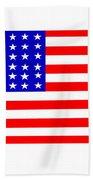 United States 30 Stars Flag Beach Towel