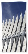 United States Airforce Academy Chapel Colorado Beach Towel