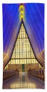 United States Airforce Academy Chapel Interior Beach Towel