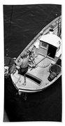 Unloading Fish At Wharf Two Monterey  Circa 1950  Beach Towel