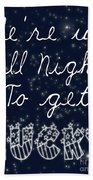 Up All Night Beach Towel by Pati Photography