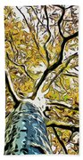 Up Into The Tree Beach Towel