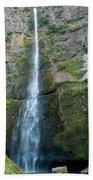 Upper Multnomah Falls Beach Towel