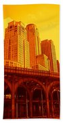 Upper West Side And Hudson River Manhattan Beach Towel