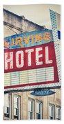 Chicago's Irving Hotel Beach Towel