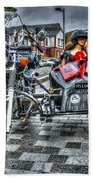 Ural Wolf 750 And Sidecar Beach Towel