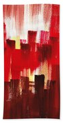 Urban Abstract Evening Lights Beach Towel