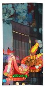 Urban Abstract Nashville Neon Beach Towel by Dan Sproul