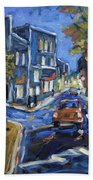 Urban Avenue By Prankearts Beach Towel by Richard T Pranke