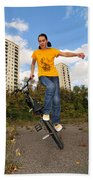 Urban Bmx Flatland With Monika Hinz Beach Towel