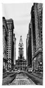Urban Canyon - Philadelphia City Hall Beach Towel
