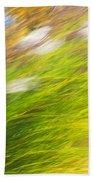 Urban Nature Fall Grass Abstract Beach Towel