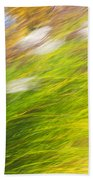 Urban Nature Fall Grass Abstract Beach Towel