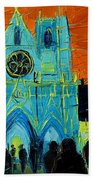 Urban Story - The Festival Of Lights In Lyon Beach Towel