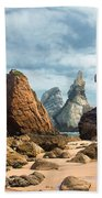 Ursa Beach Rocks Beach Towel