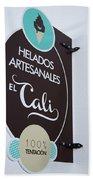 Uruguay Helados Beach Towel
