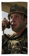 U.s. Air Force Soldier Communicates Beach Towel
