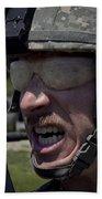 U.s. Army Sergeant Testing Beach Towel