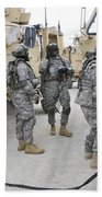 U.s. Army Soldiers Jump Start A Light Beach Towel
