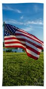 Usa Flag Beach Towel by Phyllis Bradd