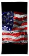 Usa Flag Smoke  Beach Towel
