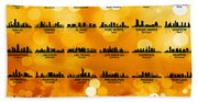 Usa Skylines 3 Beach Towel