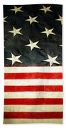 Usa Stars And Stripes Beach Towel by Les Cunliffe