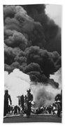 Uss Bunker Hill Kamikaze Attack  Beach Sheet