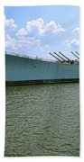 Uss New Jersey Beach Towel