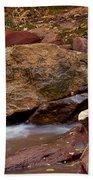 Utah Creek Cascades Beach Towel