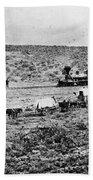 Utah Railroad, 1869 Beach Towel