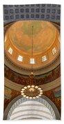 Utah State Capitol Rotunda Interior Archways Beach Towel by Gary Whitton