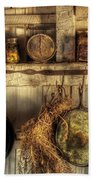 Utensils - Old Country Kitchen Beach Towel by Mike Savad