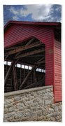 Utica Mills Covered Bridge Beach Towel