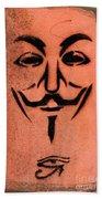 V For Vendetta Beach Towel