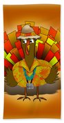 Vacation Turkey Illustration Beach Towel
