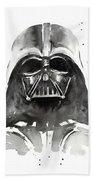 Darth Vader Watercolor Beach Towel