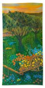 Val D'orcia Beach Towel by Pamela Allegretto
