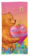 Valentine Baby Bear Beach Towel