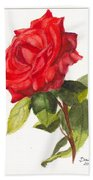 Valentine Rose Beach Towel