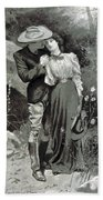 Valentines Day, 1898 Beach Towel