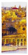 Valletta Capital Of Malta Beach Towel