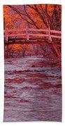 Valley Creek Bridge In Autumn Beach Towel