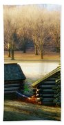 Valley Forge Cabins Beach Towel