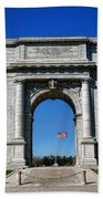 Valley Forge Park Memorial Arch Beach Towel