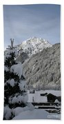 Valley In The Snow Beach Towel