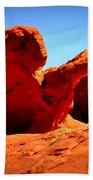 Valley Of Fire Nevada Desert Beach Towel