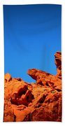 Valley Of Fire Nevada Desert Rock Lizards Beach Towel