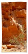 Valley Of Fire Rock Formation Beach Towel
