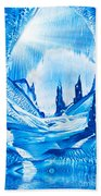 Valley Of The Castles Painting Beach Towel